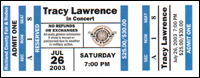 Tracy Lawrence Concert Ticket