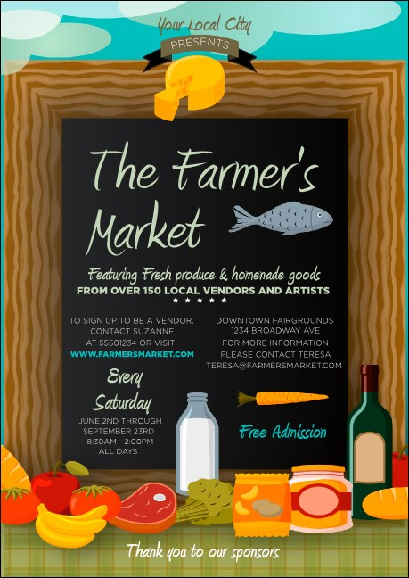 Farmer's Market Postcard Product Front