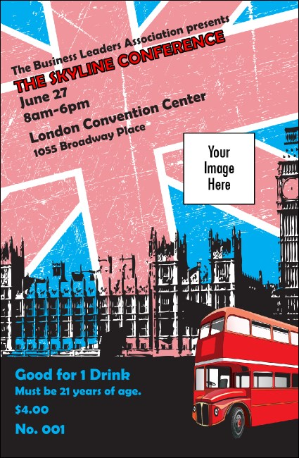 London Drink Ticket Product Front