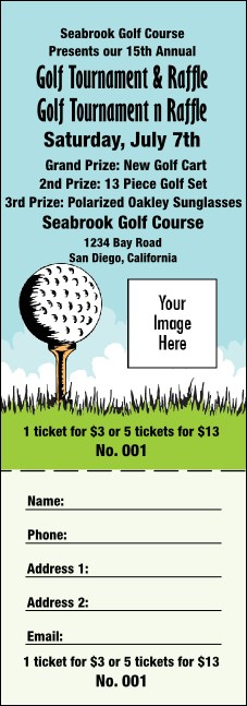 Golf Raffle Ticket 0007