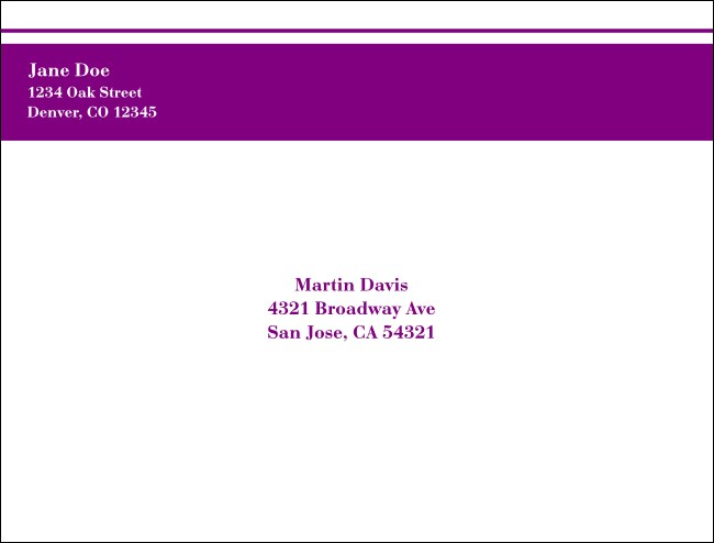 Purple Stripe A2 Envelope