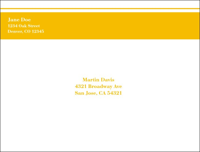 Yellow Stripe A2 Envelope