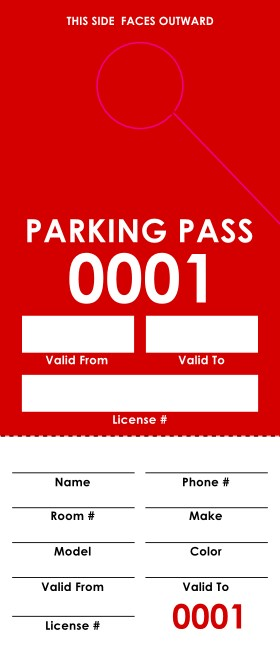 Red Parking Permit Product Front