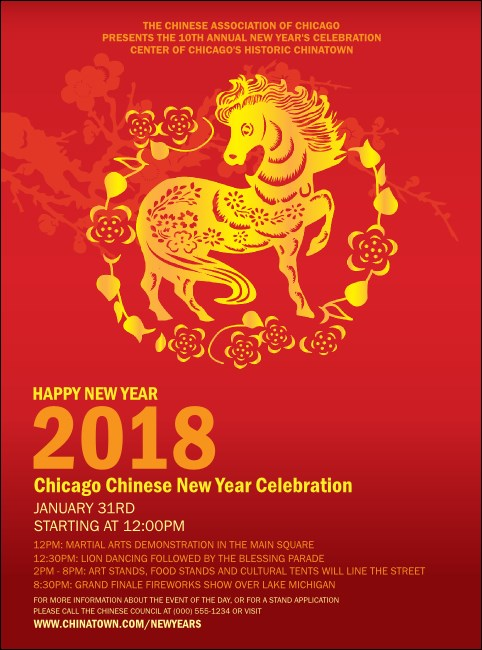 Chinese New Year Horse Flyer