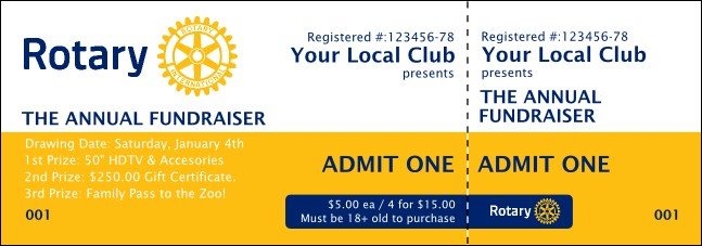 Rotary Club 2 Event Ticket
