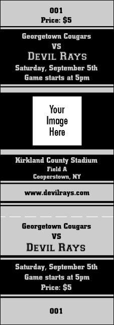 Sports Ticket Black & Silver