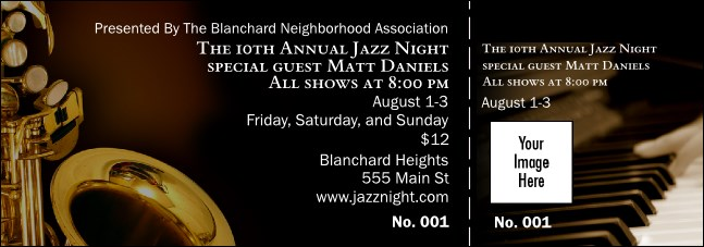 Jazz Event Ticket Product Front