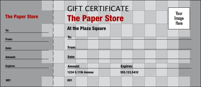 Gray Checkers Logo Gift Certificate