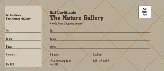 Men's Clothing Store Gift Certificate Product Front