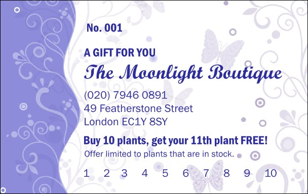 Butterfly Gift Card Product Front