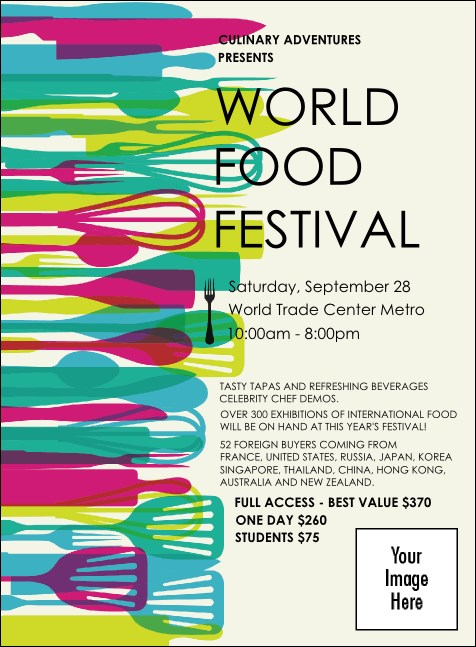 World Food Festival Invitation Product Front