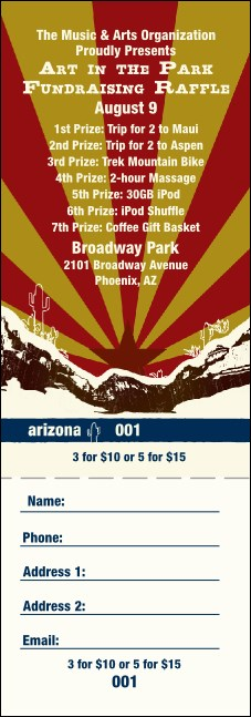 Arizona Raffle Ticket