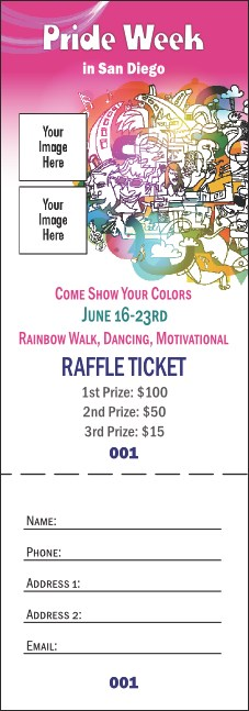 LGBT Pride Raffle Ticket Product Front