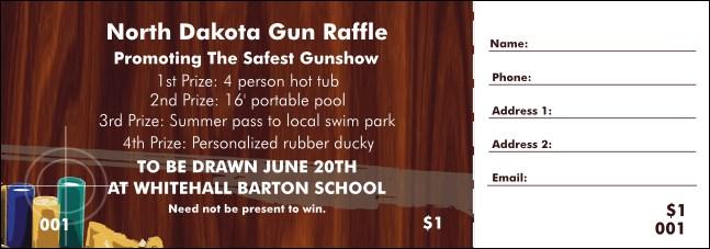 Gun Raffle Ticket
