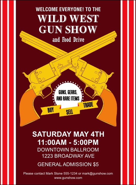 Gun Show Invitation