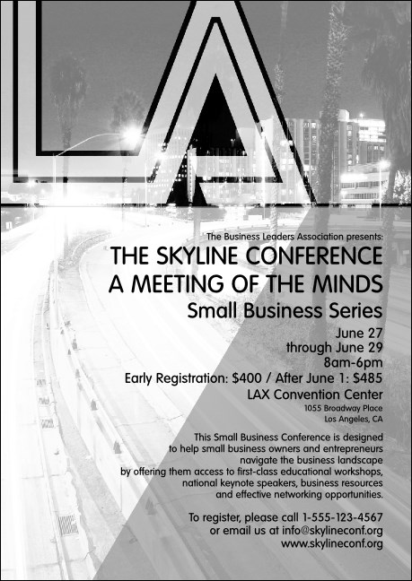 Los Angeles Club Flyer (Black and white) Product Front